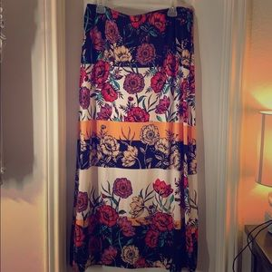 Colorful Floral Maxi Skirt